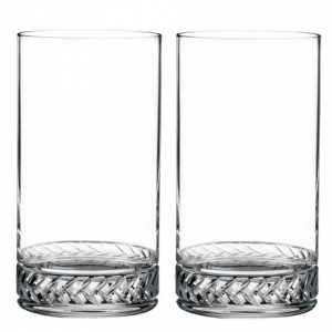 Image of Nambe Crystal Braid Highball Glasses - Set of 2