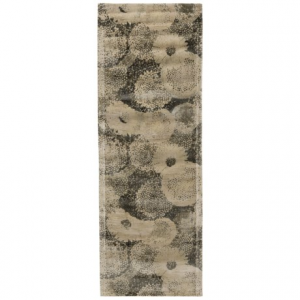 Image of Loloi Journey Collection Ivory and Smoke Floor Runner - 2?4?x7?9?, Wool-Viscose