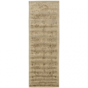 Image of Loloi Journey Collection Ivory and Mocha Floor Runner - 2?4?x7?9?, Wool-Viscose