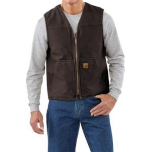 Image of Carhartt Sandstone V-Neck Vest - Sherpa Lining, Factory Seconds (For Men)