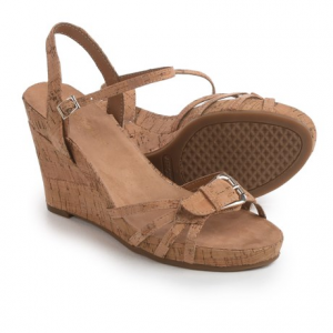 aerosoles plush around wedge sandals (for women)- Save 36% Off - CLOSEOUTS . Outdoing themselves in eye-catching style, Aerosoles made the Plush Around wedge sandals, which feature dainty, contoured straps and a dramatic, leather-wrapped wedge heel. Available Colors: BLACK CROCO, DARK BROWN CROCO, DENIM COMBO, RED FABRIC, BLACK FABRIC, TAN FABRIC. Sizes: 6, 6.5, 7, 7.5, 8, 8.5, 9, 9.5, 10.