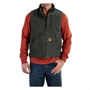 Image of Carhartt Sandstone Mock Neck Vest - Sherpa Lining (For Tall Men)