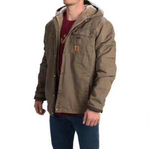 photo: Carhartt Sandstone Hooded Multi-Pocket Jacket/Sherpa Lined synthetic insulated jacket