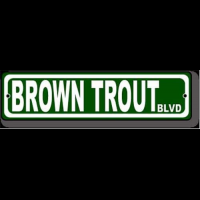 Brown Trout BLVD Fly Fishing Sign