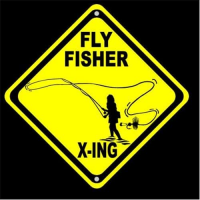 Fly Fisher X-ing Fly Fishing Sign