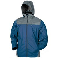 Frogg Toggs Men ' S River Toadz Self Packable Rain Jacket - Blue / Slate
