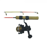 Ht Enterprises 25 Medium Action Extreme Ice Rod And Reel Combo - Chart / Orng