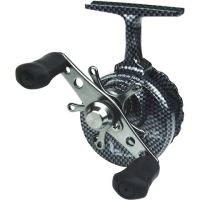 Eagle Claw Inline Ice Fishing Reel - Graphite