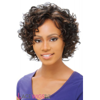 "10"" Curly #1B/30 Full Lace Wigs 100% Indian Remy Human Hair [FLRCY1534]"