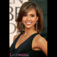 Jessica Alba  Long Hairstyle Remy Human Hair Wig [FS0753]