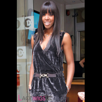 Kelly Rowland Long Hairstyle Remy Human Hair Wig [FS0781]