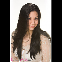 """20"""" Silky Straight #1B Lace Front Wigs 100% Indian Remy Human Hair [LFRSS1367]"""