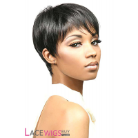 "8"" Silky Straight #1B 100% Human Hair Wigs [CLRSS1555]"