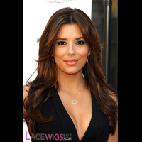 Eva Longoria Long Hairstyle Remy Human Hair Wig [FB0785]