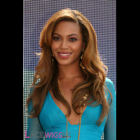 Beyonce Knowles Long Hairstyle Remy Human Hair Wig [FB0789]