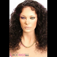 "14"" Curly #1B Full Lace Wigs 100% Indian Remy Human Hair [FC0331]"