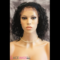 "12"" Curly #1 Full Lace Wigs 100% Indian Remy Human Hair [FC0338]"