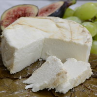 O'Banon Bourboned Chestnut Leaf Wrapped Goat Cheese