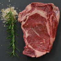 Grass Fed Beef Rib Eye - Whole and Cut To Order - 9 lbs, 3/4-inch steaks
