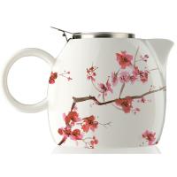 Tea Forte PUGG Ceramic Teapot - Cherry Blossoms - 24 oz teapot