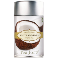 Tea Forte White Ambrosia White Tea - Loose Leaf Tea Canister - 50 Servings Canister