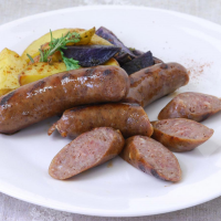 Smoked Bison Sausages with Red Wine - 12 oz pack, 4 links