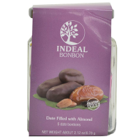 Chocolate Covered Dates Filled with Almonds - 2.1 oz - 5 pieces