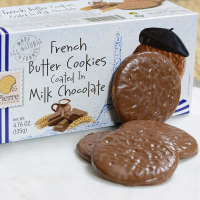French Butter Cookies Coated in Milk Chocolate - 1 box - 4.76 oz