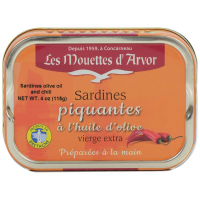 French Sardines in Extra Virgin Olive Oil and Chili - 1 can - 4 oz