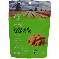 Raw Natural Almonds, Premium - 1 bag - 6 oz