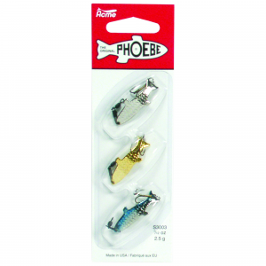 Acme Phoebe Spinning Blade Lure 1/12 oz Value Pack 3/pk - Assorted thumbnail