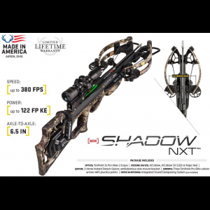 Tenpoint Shadow NXT Crossbow Package with Tenpoint 3X Pro-View 2 Scope & ACUdraw 50 SLED - Mossy Oak thumbnail
