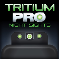 Truglo Tritium Pro Night Sights Fit S&W Bodyguard .380 - White Outline Front/Green Rear