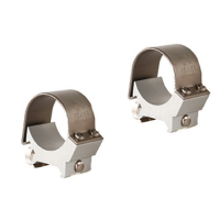 Weaver Detachable Top Mount Aluminum Scope Rings 30mm - Low - Silver