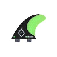 SHAPERS FINS FCS CARBON STEALTH S3 GREEN THRUSTER FINS