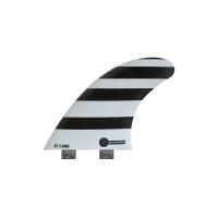 SHAPERS FINS FCS CORE LITE S7 WHITE/ BLACK ZEBRA THRUSTER FINS