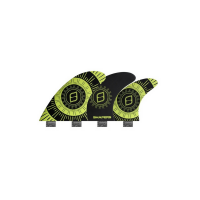 SHAPERS FINS FCS CORE LITE PIVOT SERIES 6-FIN SET SMALL YELLOW/ BLACK