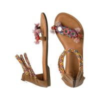 MIRRORED ANKLE WRAP SANDAL (SIZE 10)