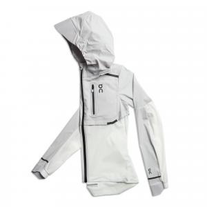 On Weather Jacket Grey | White, Running Jacket, Womens, Size: XS, Grey/White