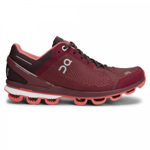 On Cloudsurfer Mulberry   Coral, Performance Running Shoe, Womens, Size: 11, Red