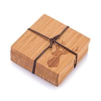 Bambu Stag Coasters - Set of 4
