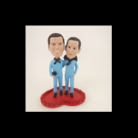 Custom Bobblehead Doll: Couple in Lovers Clothing