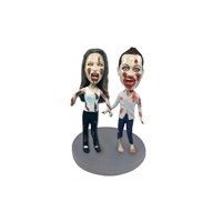 Custom Bobblehead Doll: Zombie Couple
