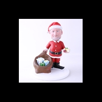 Custom Bobblehead Doll: Santa With Gifts