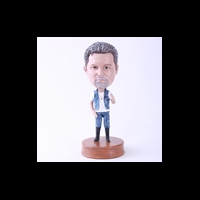 Custom Bobblehead Doll: Casual Man in Jeans