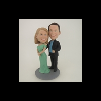 Custom Bobblehead Doll: Arm Behind Woman