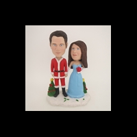 Custom Bobblehead Doll: Christmas Couple