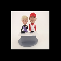 Custom Bobblehead Doll: Cooking Couple