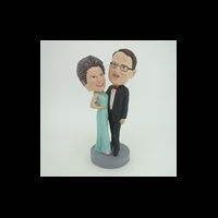 Custom Bobblehead Doll: Dancing Mother and Father