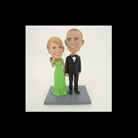Custom Bobblehead Doll: Hand In Hand Couple